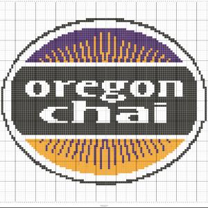 Oregon Chai Cross Stitch Pattern