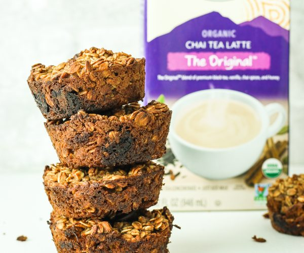 Chai Baked Oatmeal Muffins