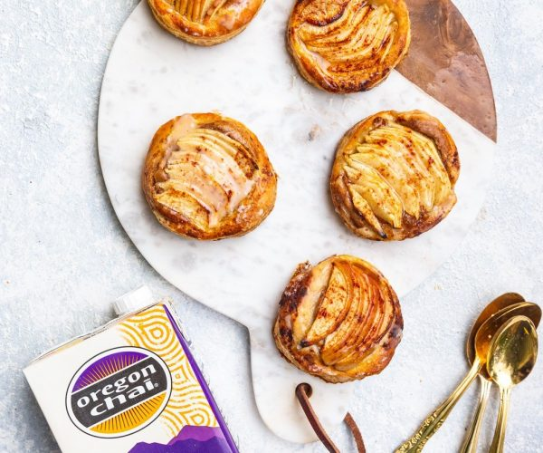 Chai Apple and Almond Puff Pastry Tarts
